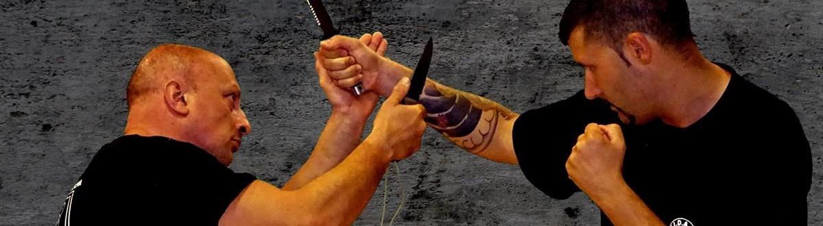 kali e difesa personale a verona - gunting con coltello